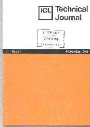 Original ICL Technical Journal