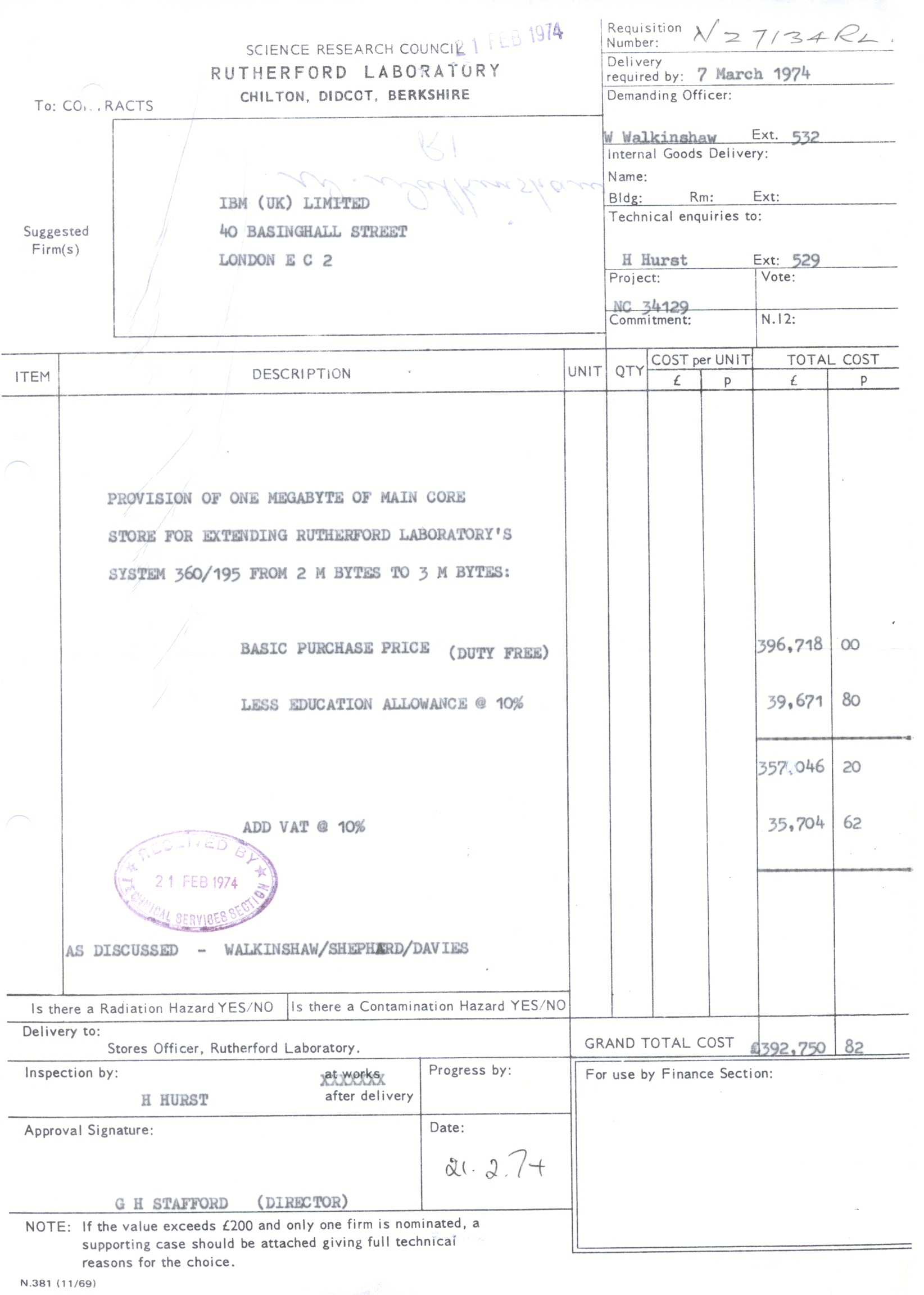 Invoice For Rutherfordu0027s Third Megabyte Of Memory  Model Of Invoice