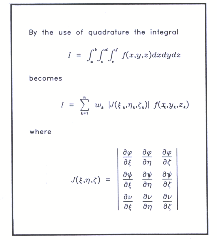 Fig 5.3 An example of the layout of mathematical text obtained using the FR80 microfilm recorder. (31650)