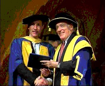 Tim Berners-Lee receiving Doctorate at WWW7