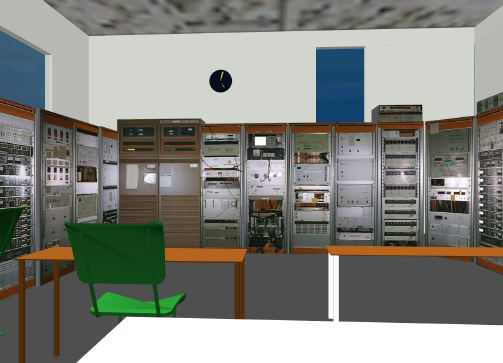 Figure 3: VR model of the EISCAT facility control room