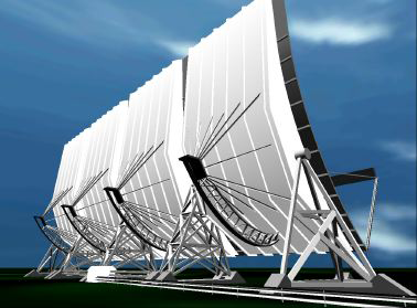 Figure 4: VR model of the EISCAT  VHF antenna