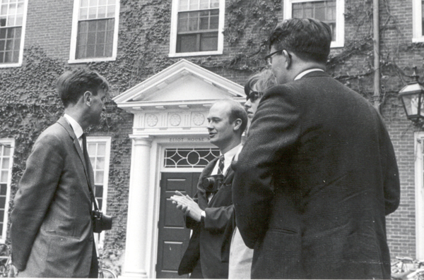 Bart Fossey, Bob and Jan Conrod, Bob Churchhouse, at Harvard, Bob's Almer Mater