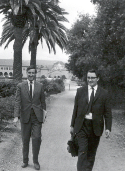 Bart Fossey and Bob Churchhouse at Stanford
