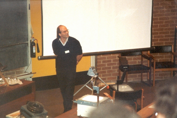 John Gurd speaking at DCS Conference, University of Sussex, 1984
