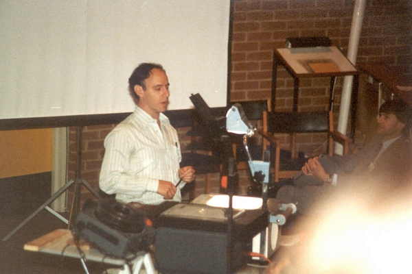 Maurice Sloman speaking at DCS Conference, University of Sussex, 1984