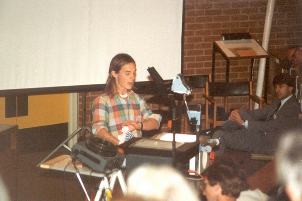 Carroll Morgan speaking at DCS Conference, University of Sussex, 1984