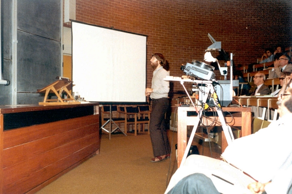 Doug Edwards speaking at DCS Conference, University of Sussex, 1984