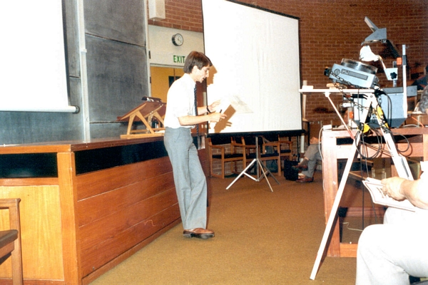 Peter Henderson speaking at DCS Conference, University of Sussex, 1984