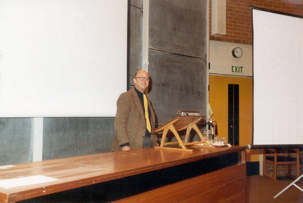 Roger Needham speaking at DCS Conference, University of Sussex, 1984