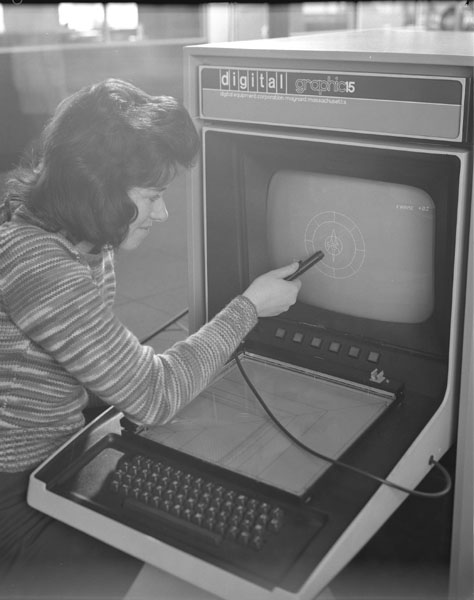 Maureen Smith pretending to use the VT15