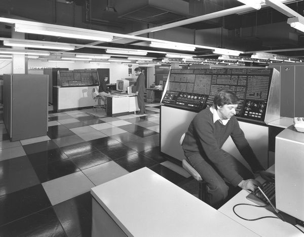 IBM 360/195s in the Atlas Building, February 1978