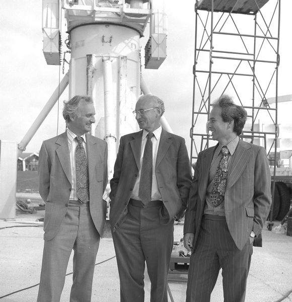 John Houghton, Godfrey Stafford and Geoff Manning, September 1979