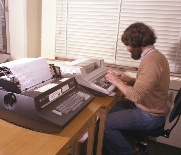 Diablo-1620 Letter-Quality Printer (foreground)