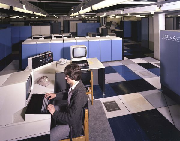 UNIVAC 1108 and IBM 3032, April 1980