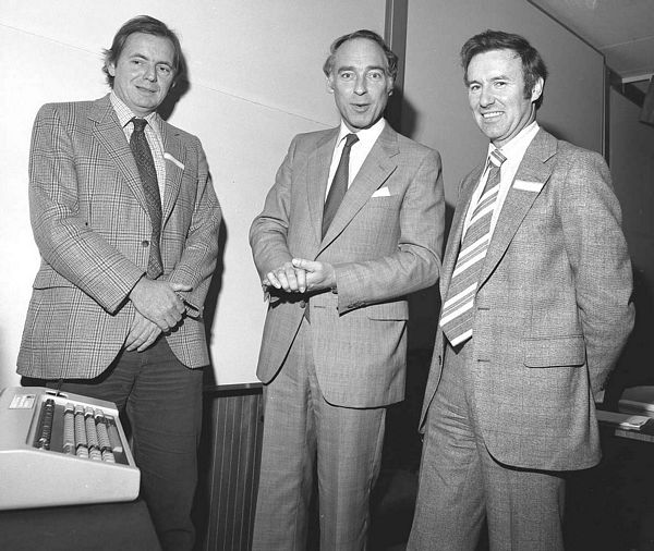 Mike Disney, Neil MacFarlane and Malcolm Longair at the Starlink Inauguration