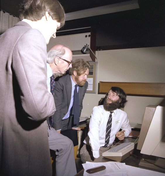 Jed Browns demonstrates to a Council member and Harry Atkinson from Swindon Office