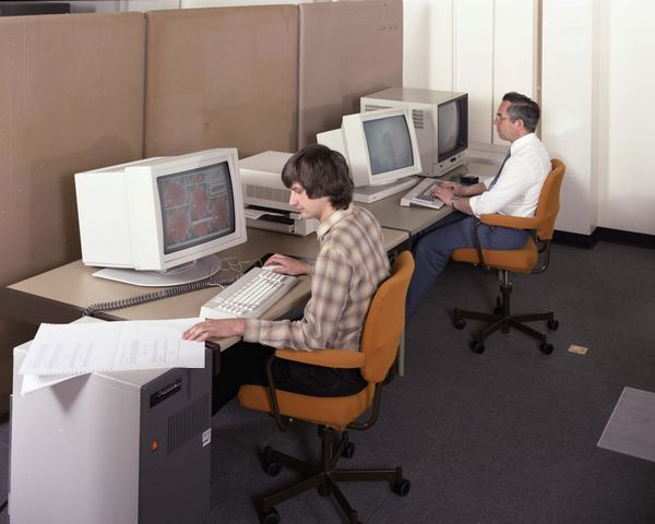 Informatics Workstation Room, R1 with Martin Prime and Tony Lowe