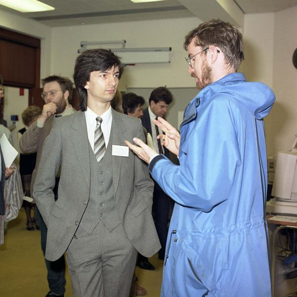 Crispin Goswell (left): BCS Displays Group Meeting on SGML, 1988